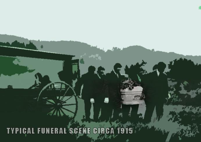 1915 funer scene